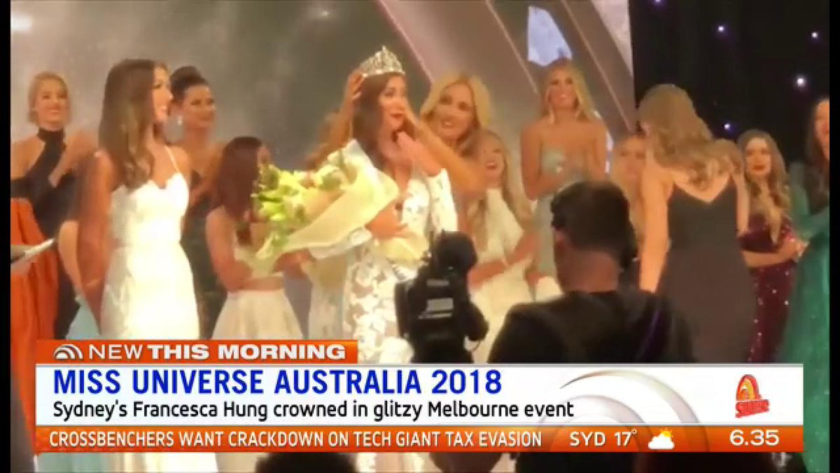 Sydney's Francesca Hung wins the Miss Universe Australia crown for 2018. @MissUniverse #MissUniverse #7News