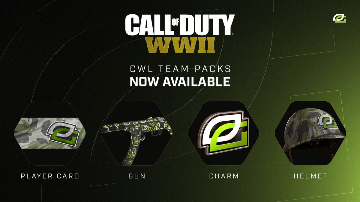 ⚠️AVAILABLE NOW ⚠️ You got some new ways to show your #GREENWALL support in @CallofDuty WWII!