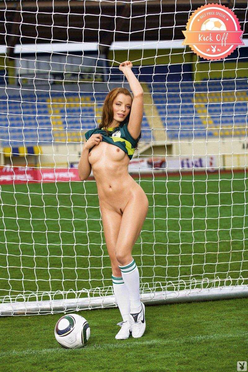 Naked women football