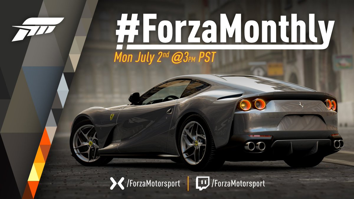 ForzaMonthly July 2 livestream and July update/ Top Gear Car
