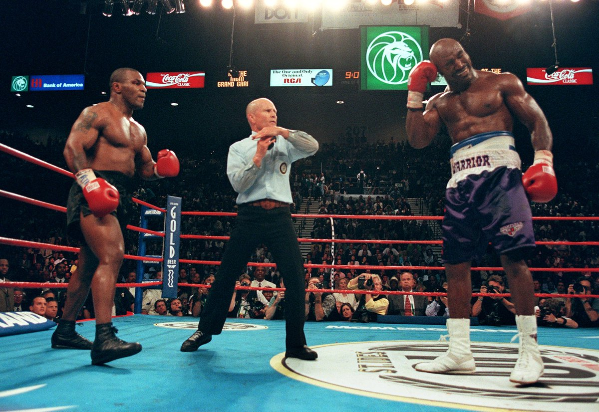 21 years ago today...The Bite Fight. #30for30 'Chasing Tyson' available now on ESPN+ es.pn/2tBqI7O