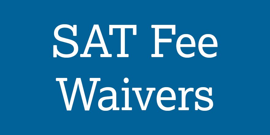 Image result for sat fee waiver""