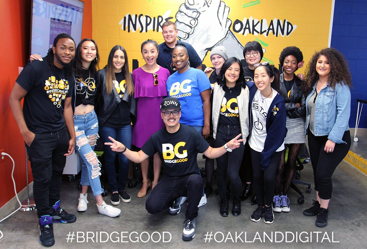 BREAKING: NBC Bay Area awards #OaklandDigital Local Project Innovation 2018 grant to connect overlooked talent with meaningful careers + design jobs. Goal: 5,000 students on  http:// BRIDGEGOOD.com  &nbsp;   by end of year! #BRIDGEGOOD thanks @melissacolorado for interviewing #ODsquadd <br>http://pic.twitter.com/k0S5qZn9Cx