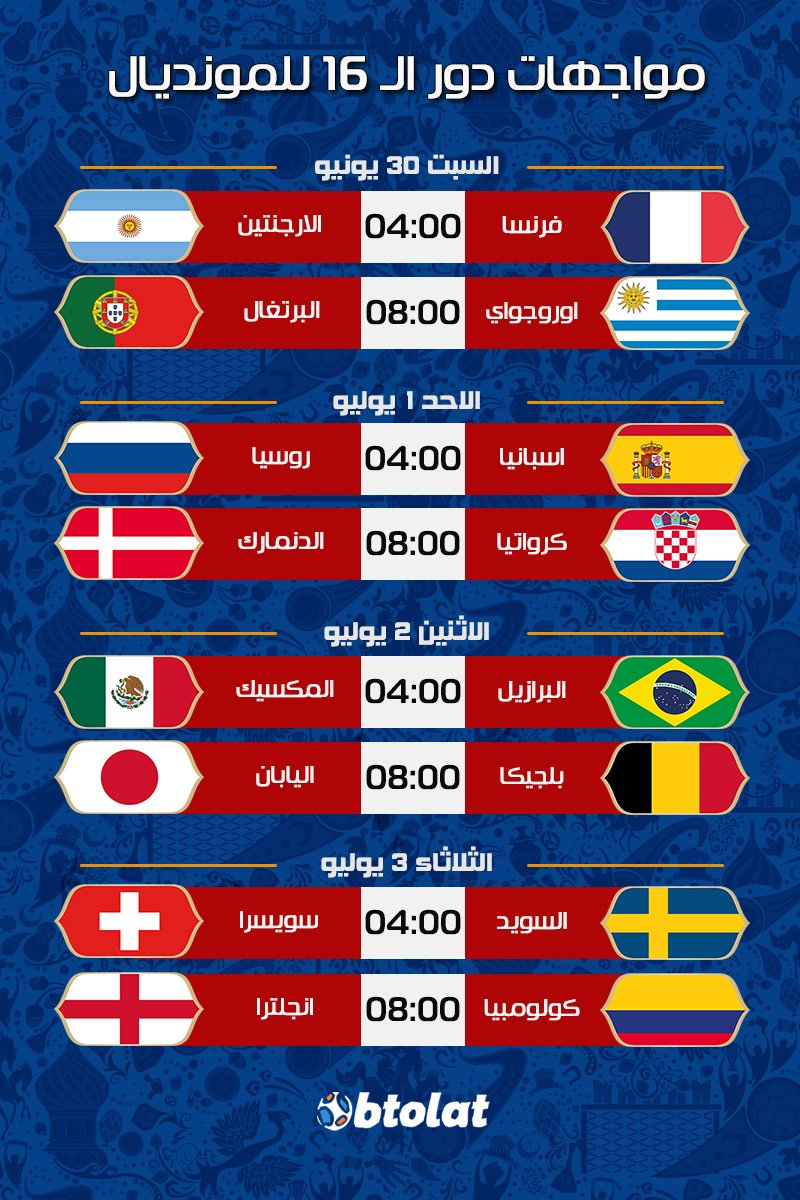 Btolat Com On Twitter اسدل الستار عن دور مجموعات كأس العالم 2018
