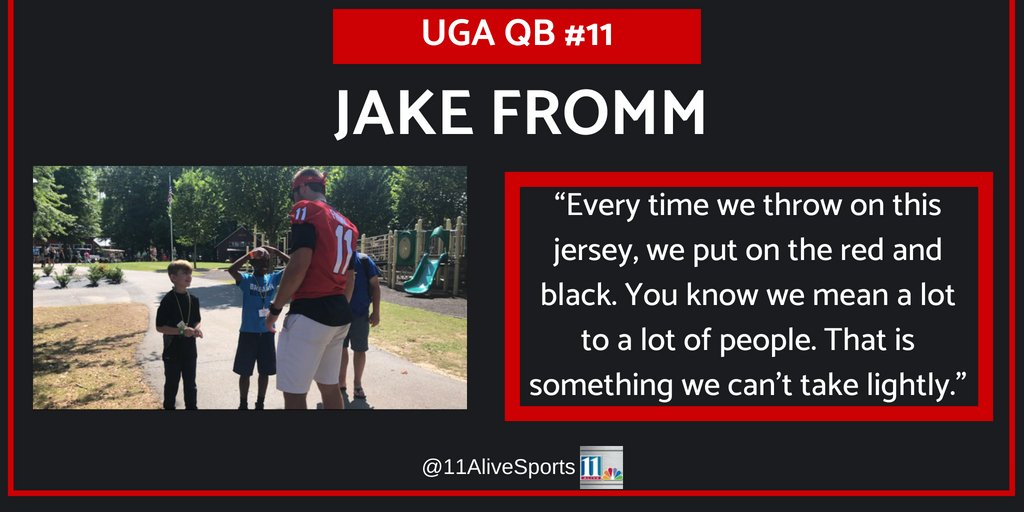 #UGA QB @FrommJake on what it means to put on a #GeorgiaBulldog jersey.