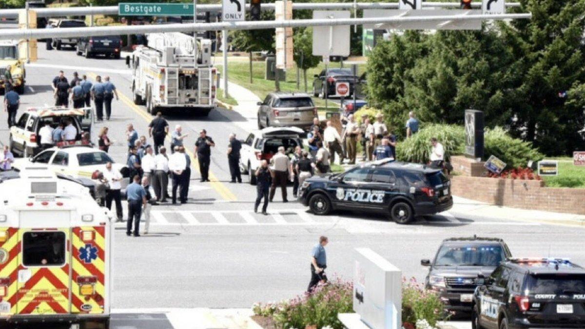 Estados Unidos | Tiroteo en un diario en Maryland: al menos cinco muertos