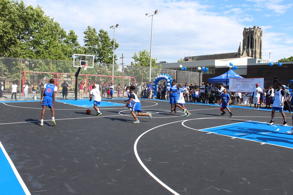 Basketball has long played an important role in the Hartranft community. Today, we celebrate the renovation of a community staple and look forward to watching the many games played here for the years to come!