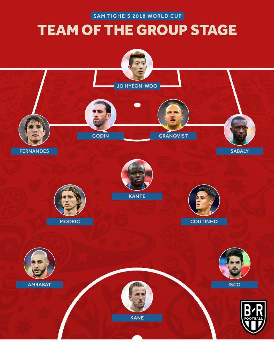 هذه هي التشكيلة المثالية لدور المجموعات لبطولة كأس العالم روسيا 2018