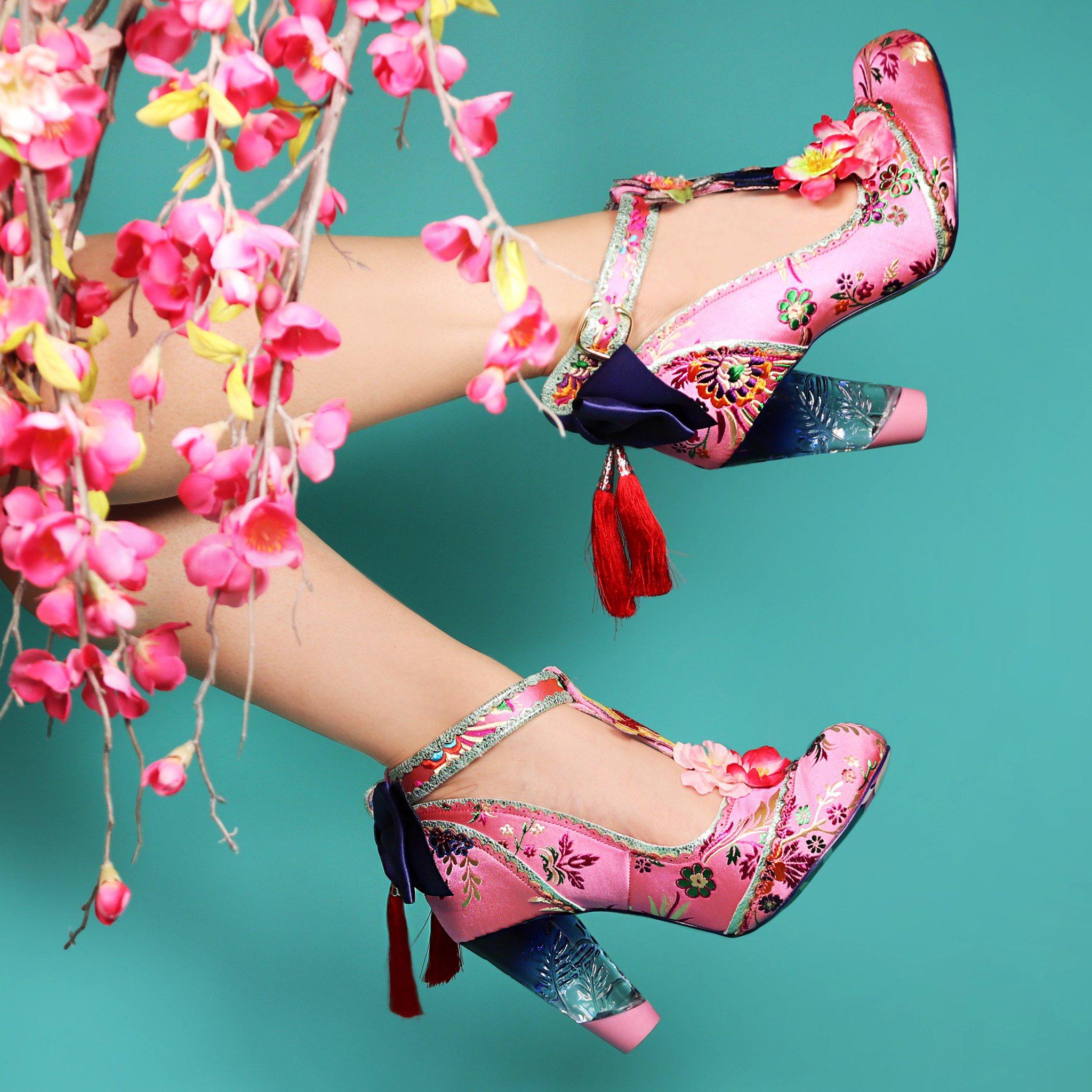 Irregular Choice Womenss Blossom Bunny Ankle Strap Heels