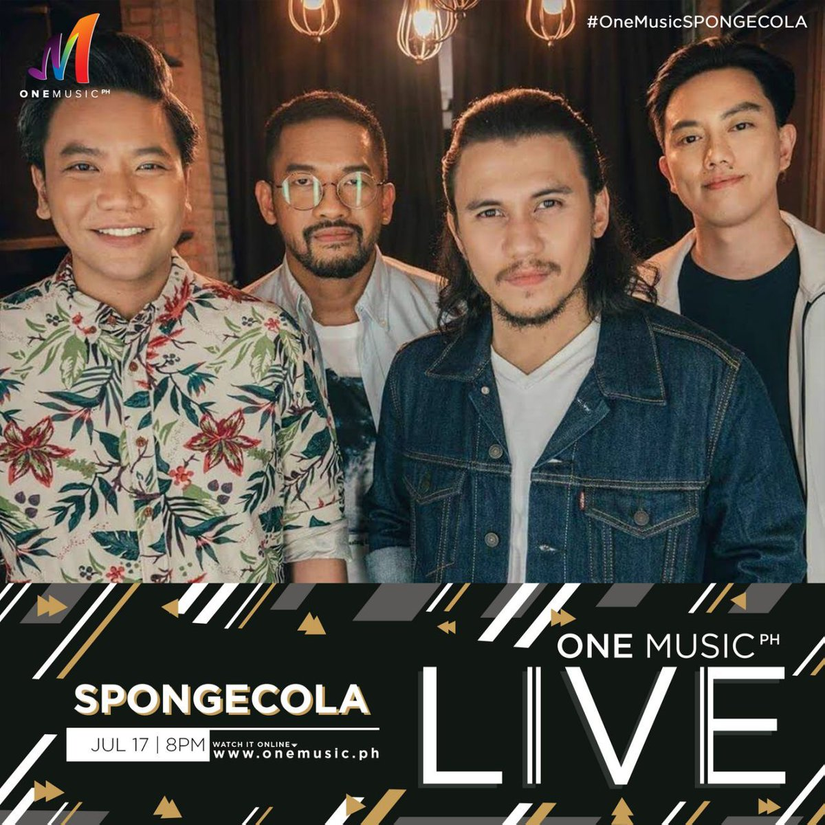 Were coming back for another #OneMusicLIVE session next Tuesday! Catch @sponge_cola on July 17, starting 8 PM only on the One Music PH Facebook and YouTube channel!