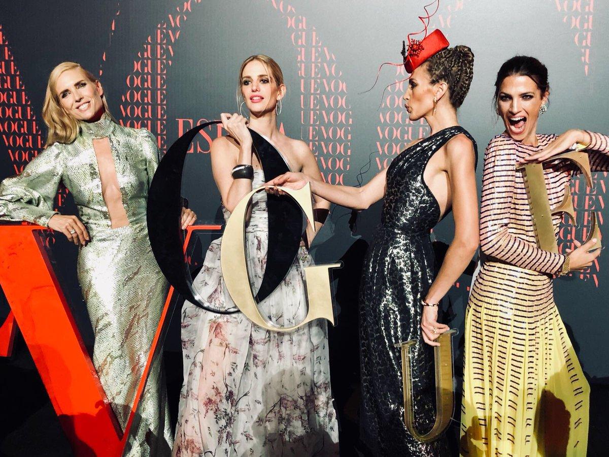 With the girls at #Vogue30! @VogueSpain @juditmasco @lasanchez @teresabaca1 #celebration #vogue #party