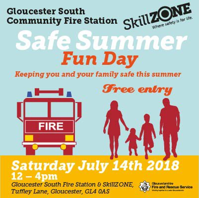 Looking forward to our open day tomorrow, come and see us #Glosfire