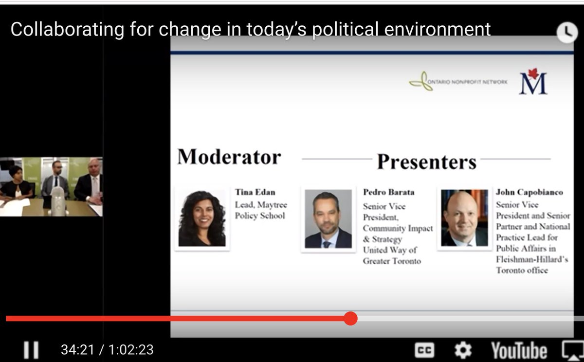 Back-2-back-2-back elections: Navigation tips for #Nonprofits w @JCappy123 @tina_edan &amp; yours truly:  https:// youtu.be/CVAPeuv1uP8  &nbsp;   . Thanks @maytree_canada @o_n_n for hosting stimulating webinar... @Fleishman @UWGreaterTO<br>http://pic.twitter.com/ZNtZdmGr75