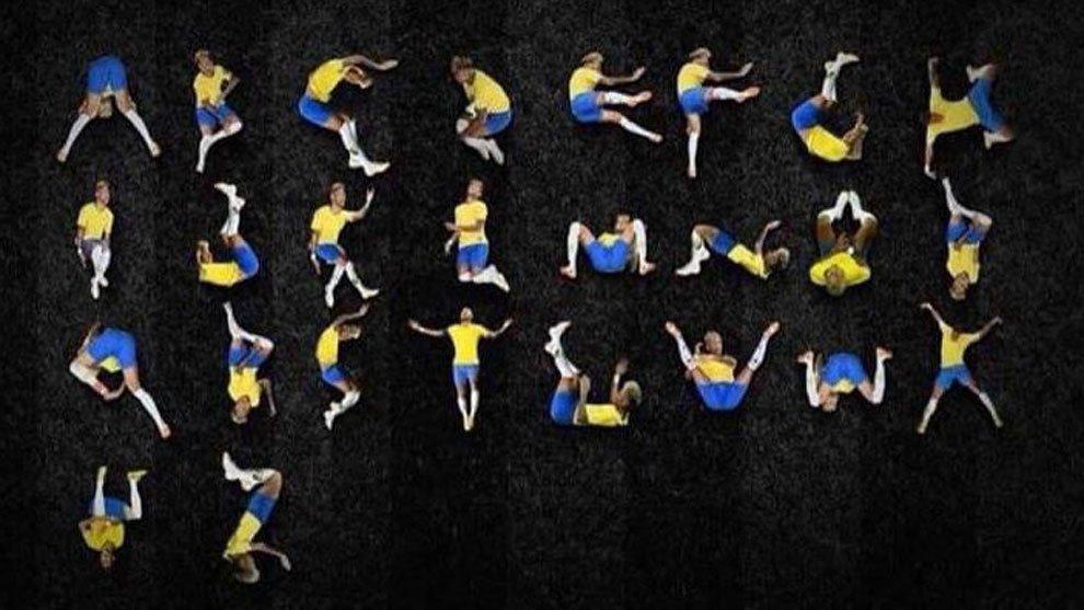 Crean un abecedario según las caídas de Neymar