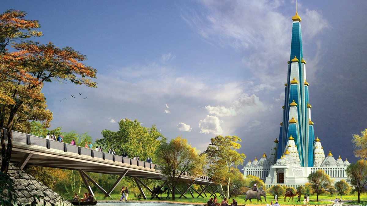 NGT has issued notice to ISKCON on a plea against the construction of &#39;Vrindavan Chandrodaya Mandir&#39; near Mathura. 700ft tall temple will be the tallest religious monument in the world. We must oppose the attempts to malign this temple under the guise of environment conservation. <br>http://pic.twitter.com/NIucbp4BrU