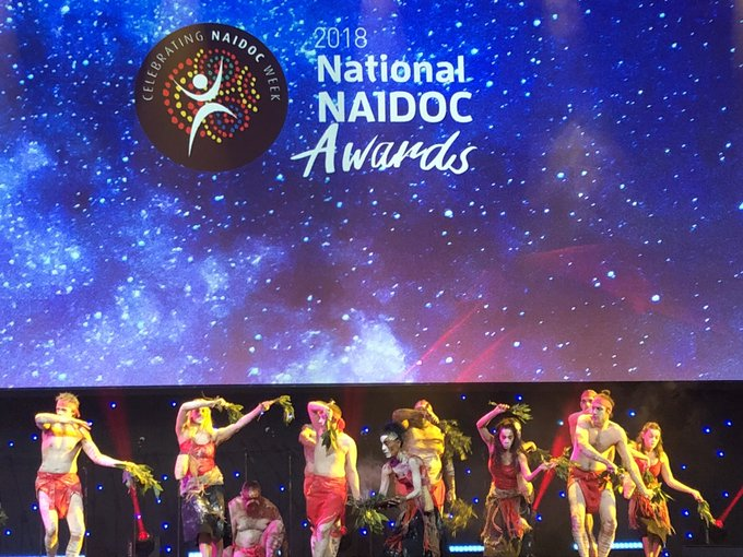 Very privileged to be in Sydney for the national NAIDOC awards. #NAIDOC2018 #greens Photo