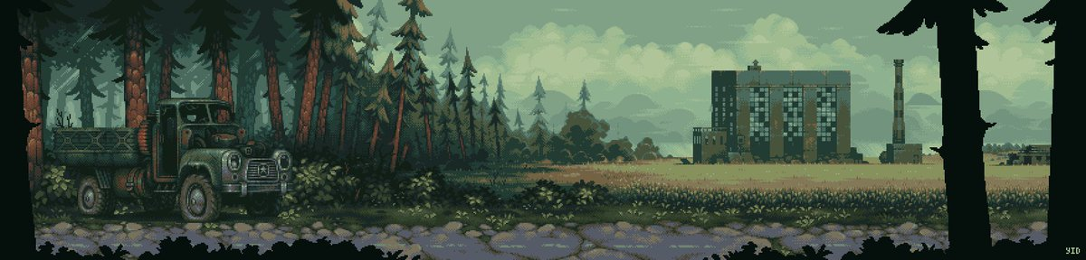 Old game location for a @bunker_game #pixel #pixelart #indie #indiegame #bunkergame #forest #gamedev