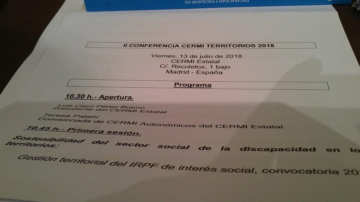 Imatge del programa de la conferència