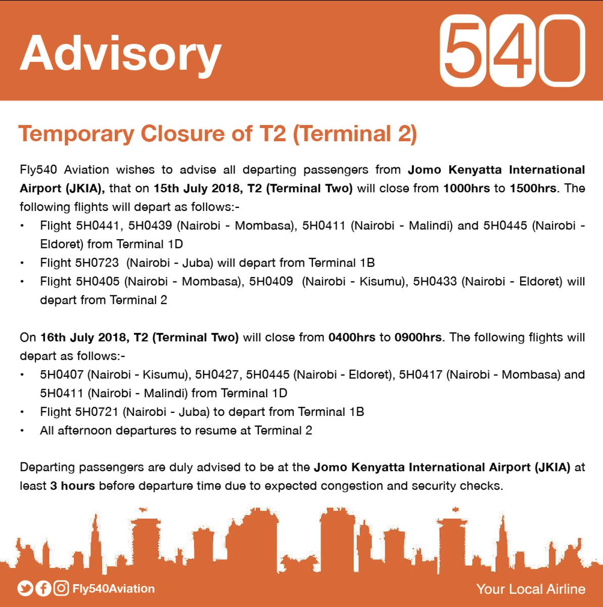 Change of Terminal for 15th and 16th July 2018<br>http://pic.twitter.com/gkznDTbxD8