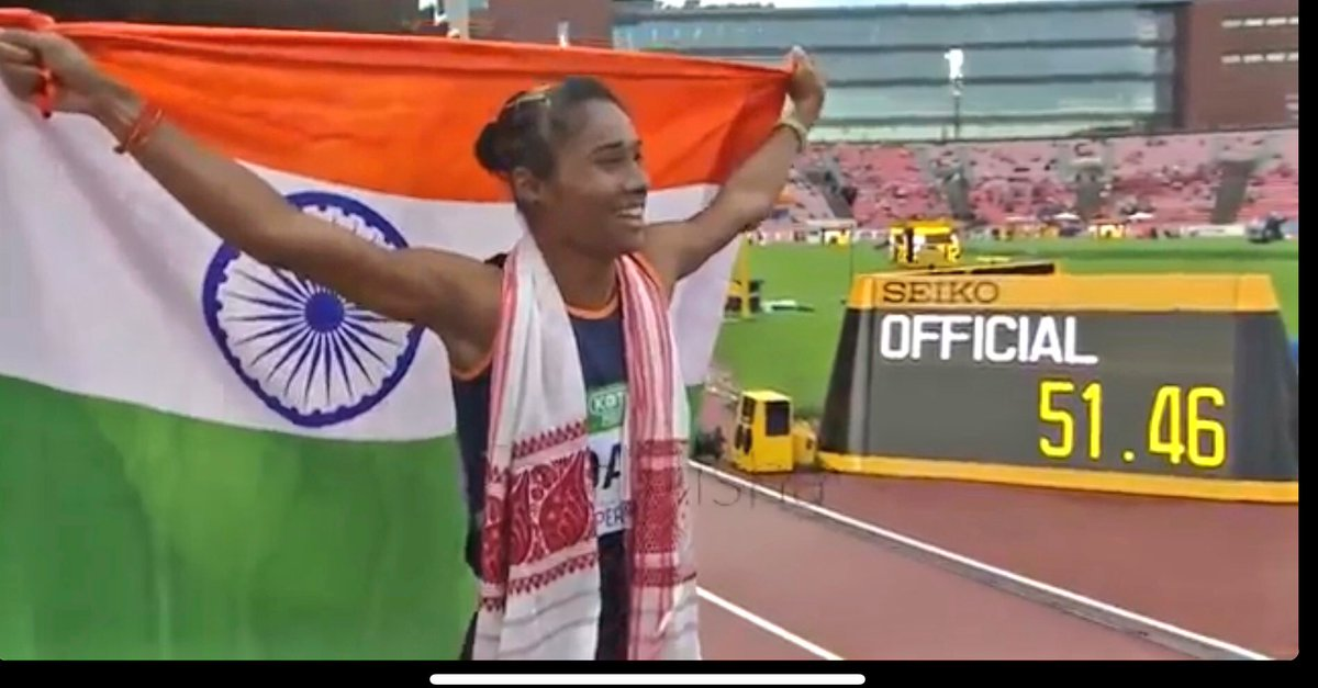 Woke up and felt a genuine wave of Pride Love & inspiration. What an amazing athlete you are... Kya#HimaDas Baat hai!