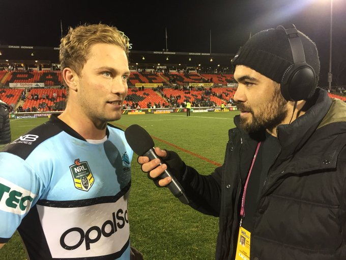 Matt Moylan put in a man-of-the-match performance in Cronulla's 24-12 victory over Penrith at Panthers Stadium. #NRLPanthersSharks Photo