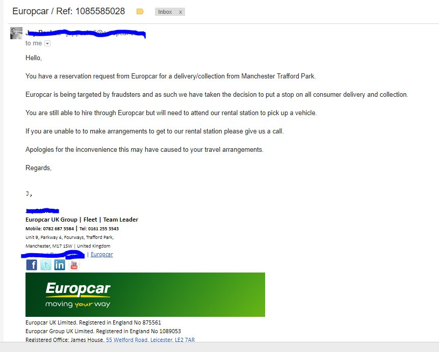 Europcar Uk On Twitter Hi Onepablo I Am Sorry To See That This