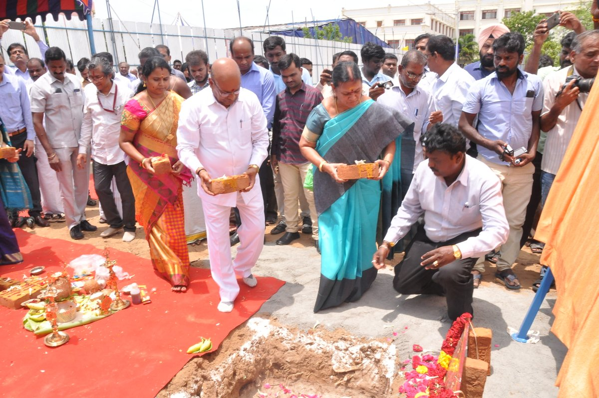 Inauguration of Spl. Education HRD Block, Accessible Bus & Bhoomi pooja for Nambikkai Bhawan, Barrier free waiting lobby & Dinning Area Niepmd Chennai by Hon'ble Minister for MSJ & E, GOI