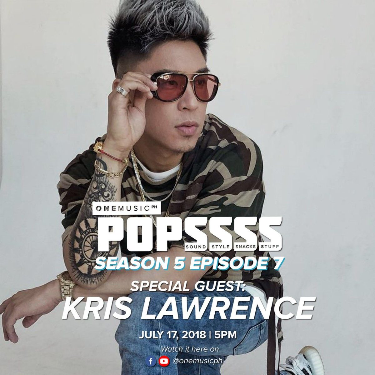 Catch @ImKrisLawrence on another awesome episode of #OneMusicPOPSSSS this coming Tuesday, only on the One Music PH Facebook and YouTube page, starting at 5 PM! Ready ka na ba para sa #MarNigoDay ulit?