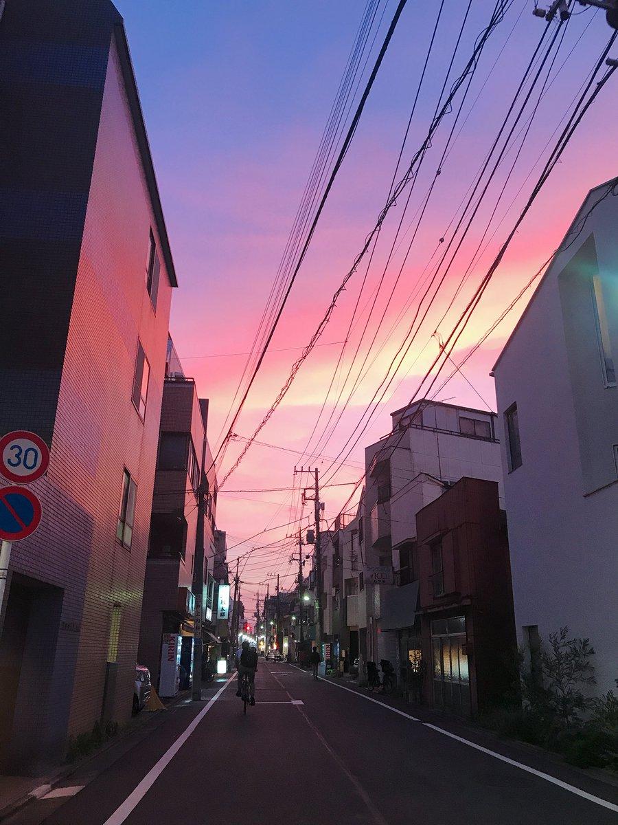 今日の夕焼けとても綺麗だった!