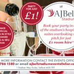 Image for the Tweet beginning: #Partyfora£1 #party #family #Corporate #AJBellStadium