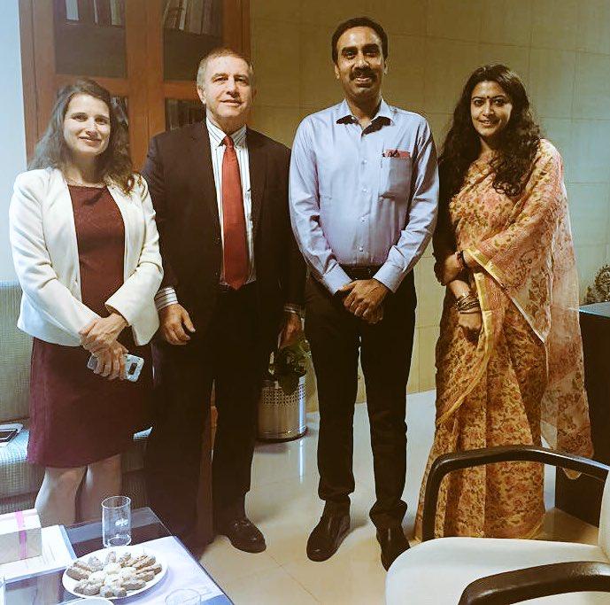 CMO official, Resident Commissioner of Gujarat in Delhi meet Israel ambassador