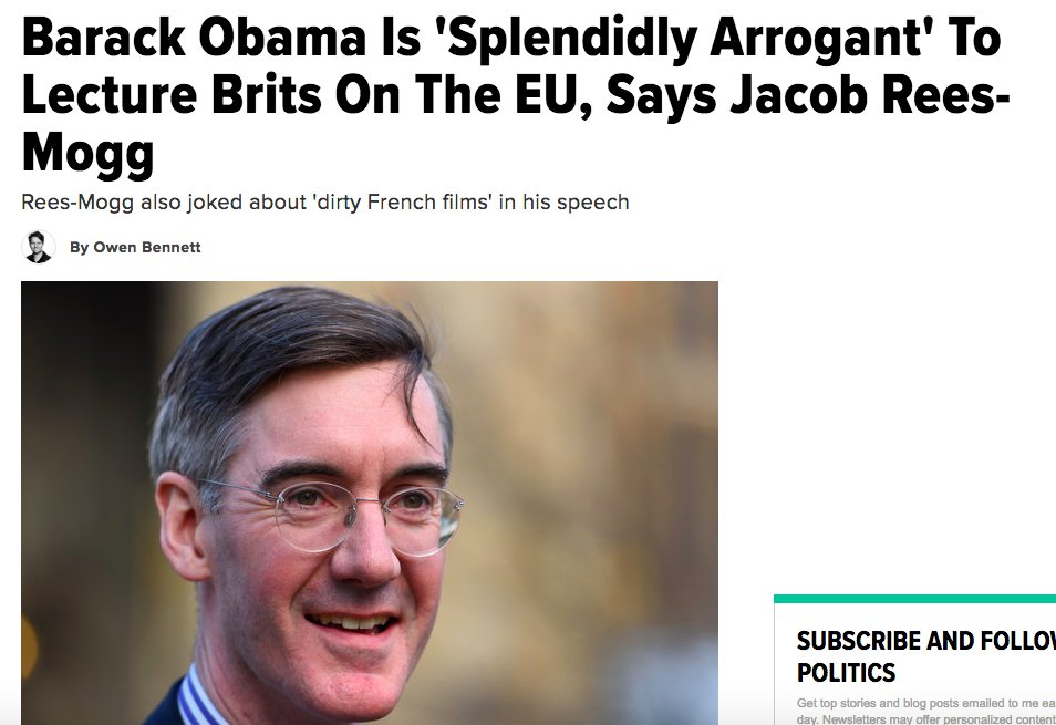 Jacob Rees-Mogg on when it is and isn't ok for foreign leaders to lecture us on Europe.