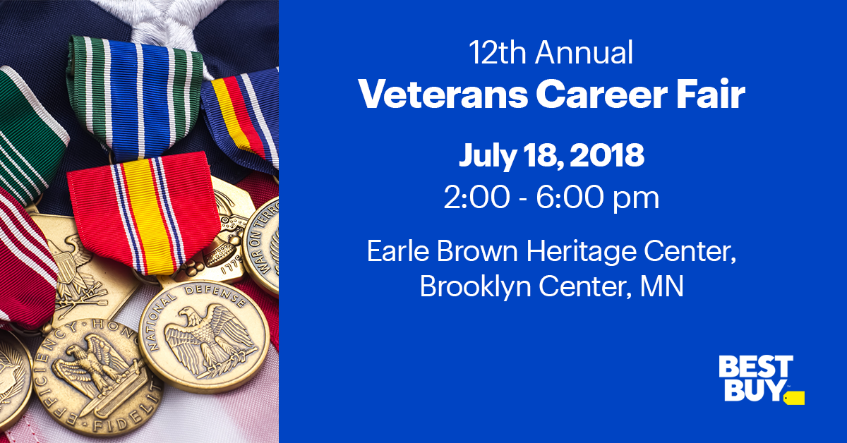 61e2b1c50a4  BestBuy is participating in the Veterans Career Fair on July 18th and we  want to meet you! Register for the event  http   bby.me gg9ul  pic.twitter.com  ...