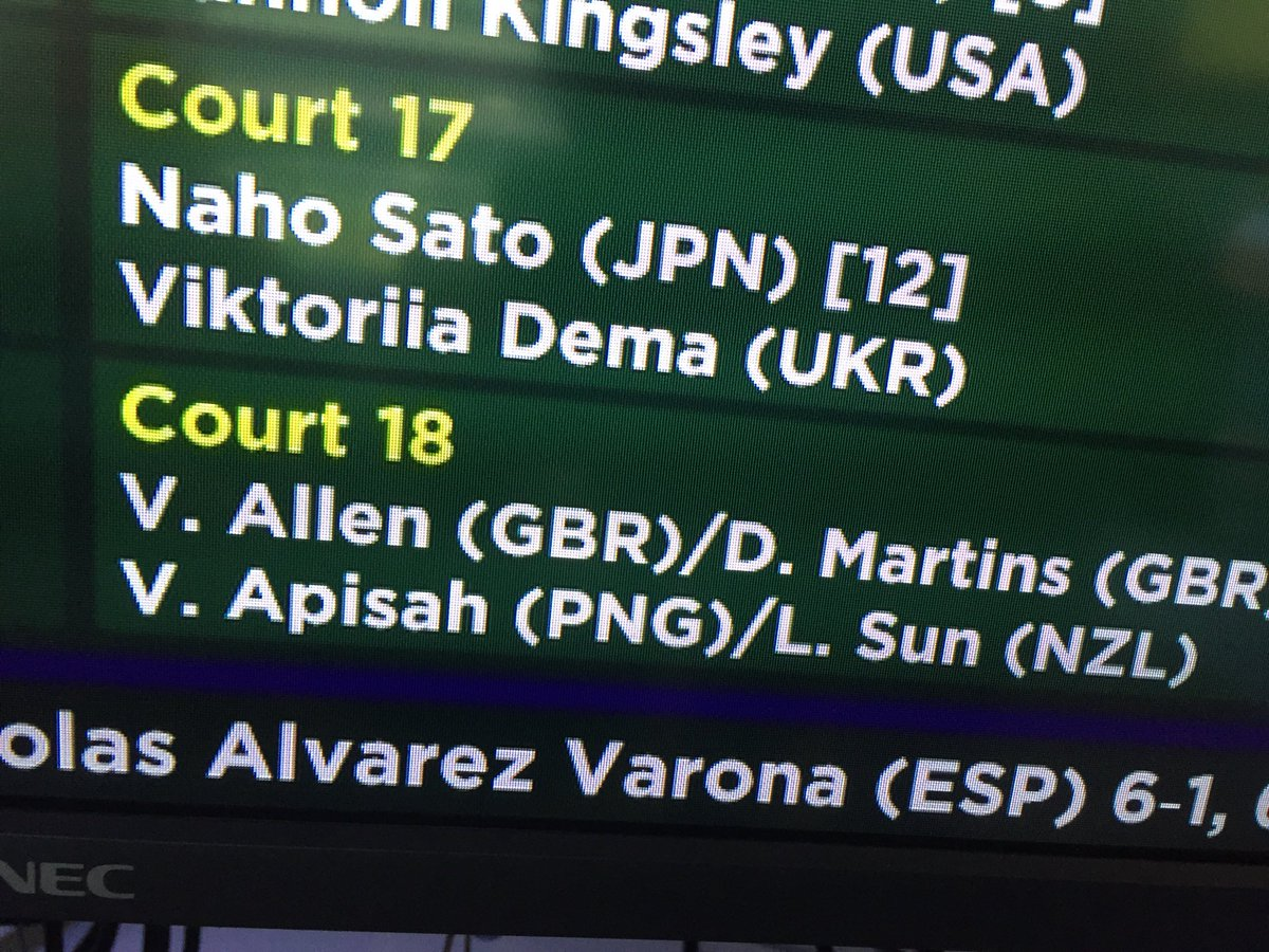 """Hey, Sully — check out that girl on court-18, she's..."" #FunWithJuniorsNames @Wimbledon"