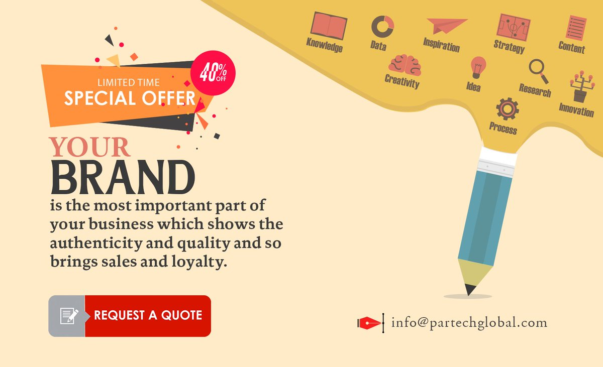 DO YOU KNOW?  Your brand is the most important part of your  business which shows the authenticity and quality and so brings sales  and loyalty.  Avail Best offer: info@partechglobal.com Web: http://partechglobal.com/   #Branding #logo #IT #ITDubai  #ITservices #website #SEO #designpic.twitter.com/WxdImBwtE4
