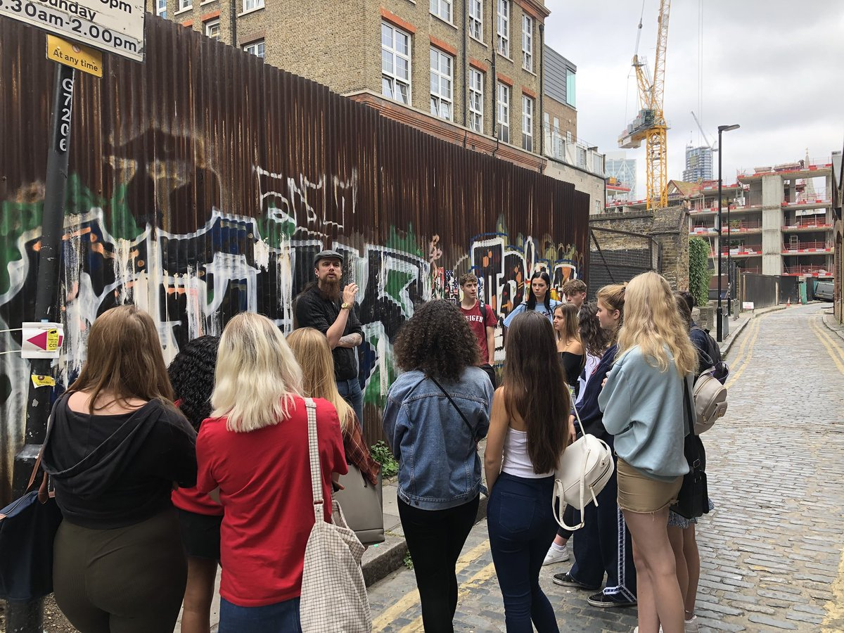 #WiderSkillsWeek Day 2, morning: Jack the Ripper Tour with Mick Priestley. #WSW #EsherCollege #EsherSociology