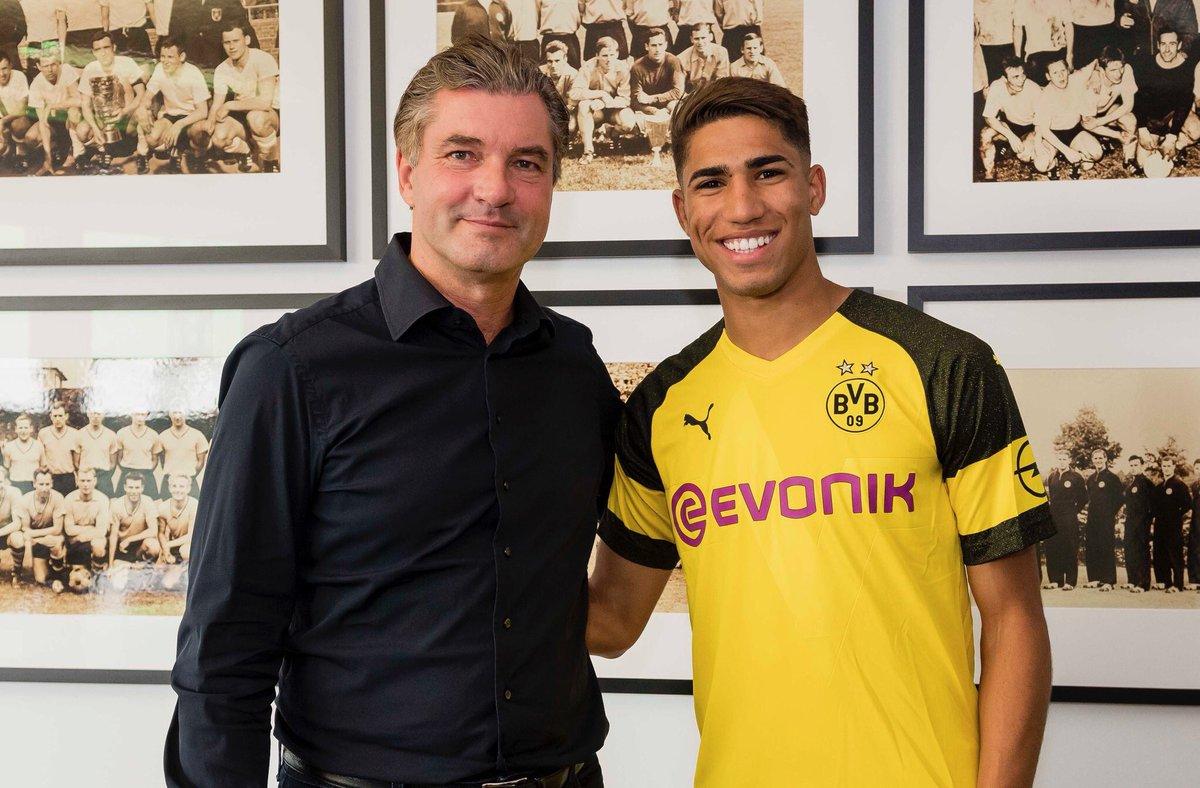 Dh0_CyjXkAADAAy Achraf jugará cedido en el Borussia Dortmund - Comunio-Biwenger