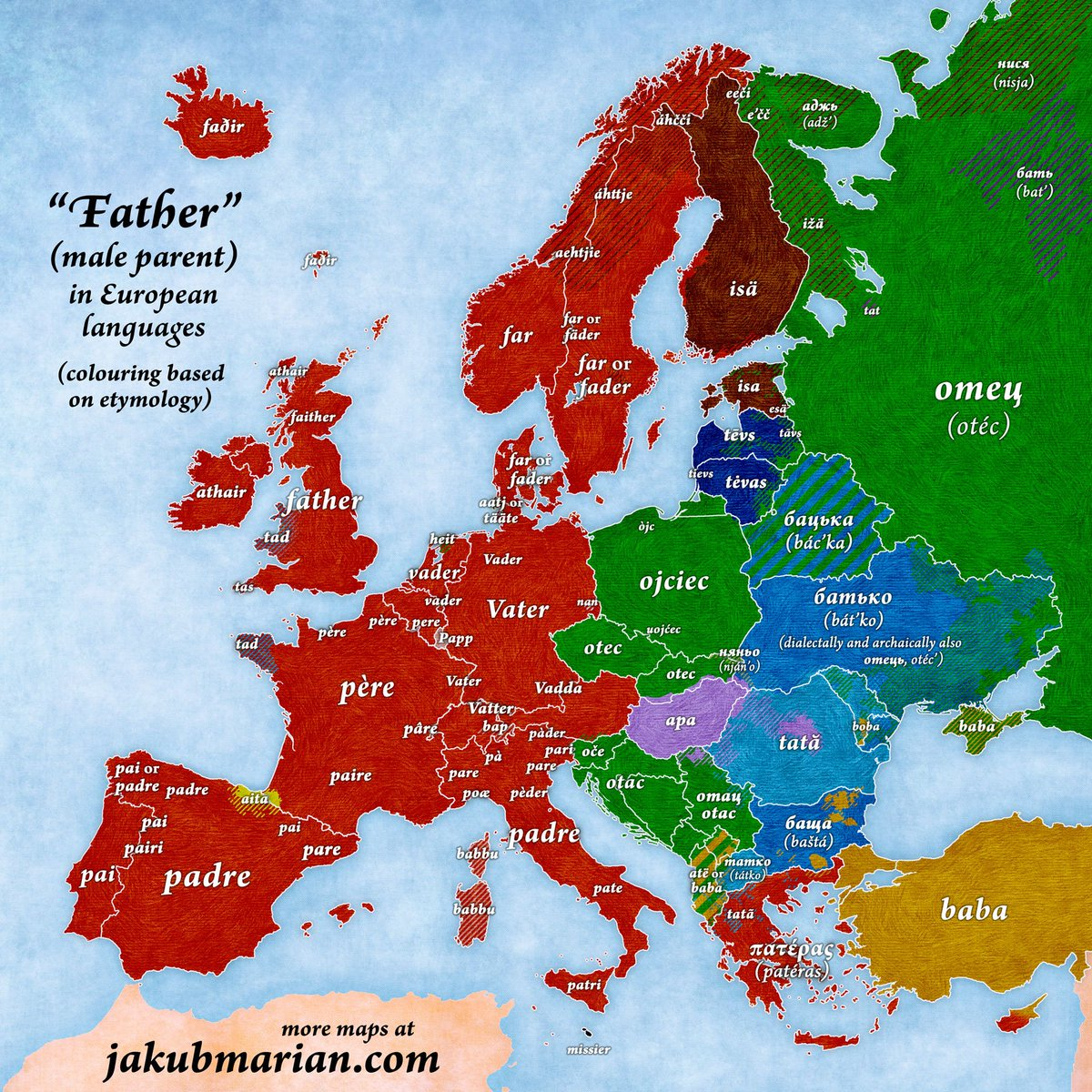 Faces Of Ancient Europe On Twitter Father In European Languages