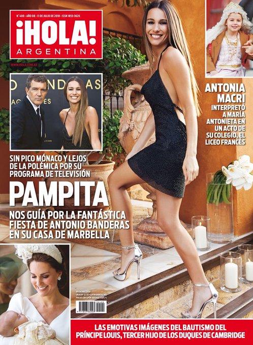 Pampita no volvió para despedirse de su publico pero sí hablo con @holacomar desde España #AdelantoTapaHOLA 👀 Foto