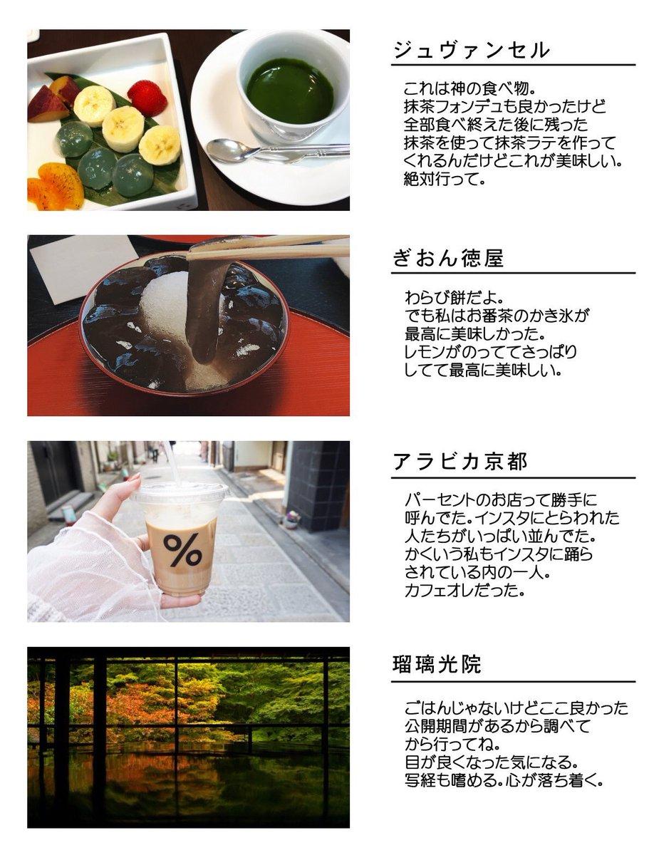 友人に京都のおすすめ教えろって言われてプレゼン資料作ったけど2枚で飽きてしまった、無力