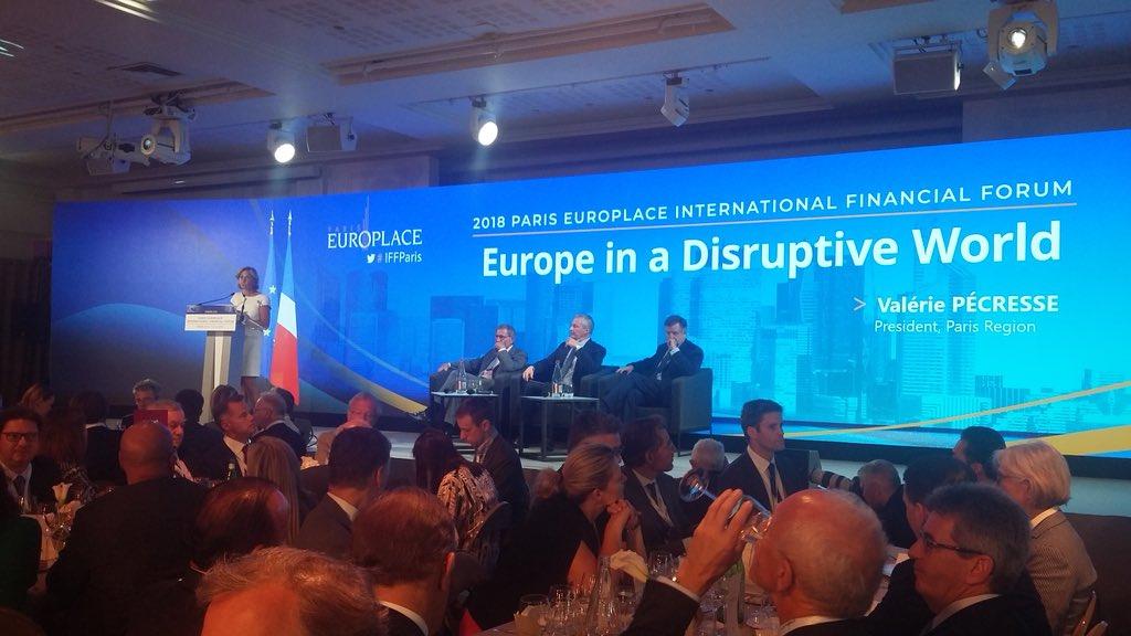 Aux rencontres #IFFParis @europlace, @vpecresse a annoncé qu\