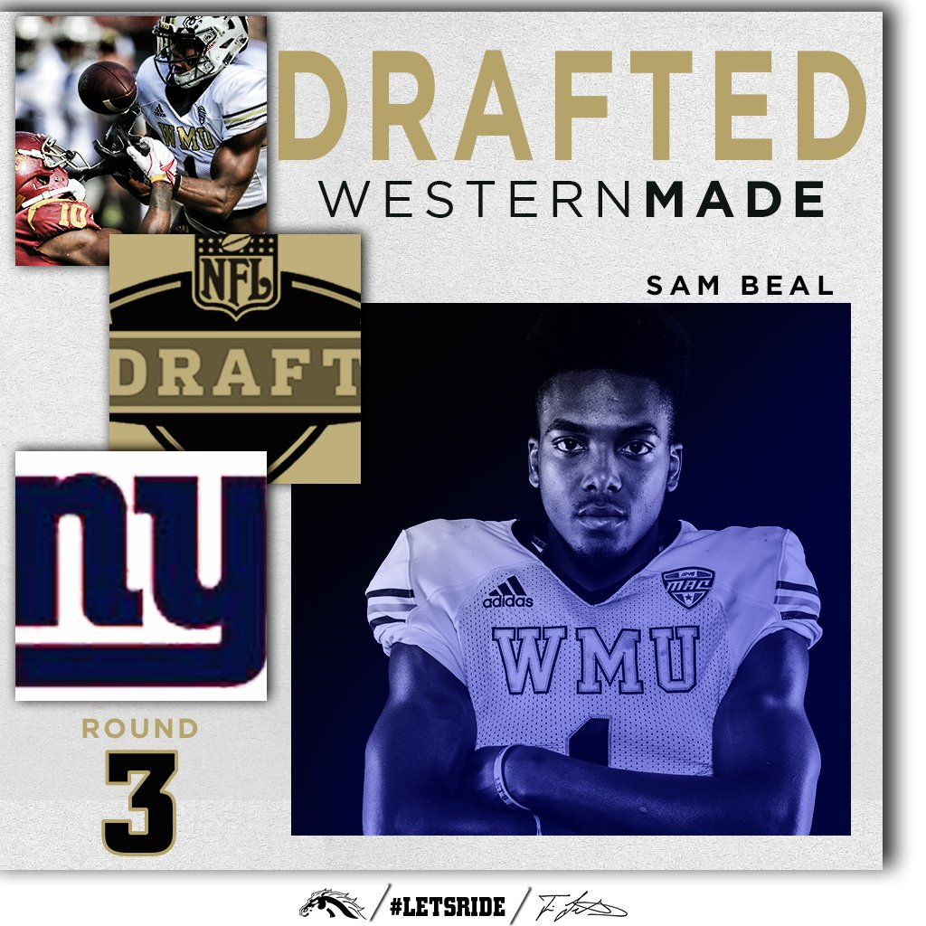 Congrats to @BigBeal_ on being drafted to the GIants!!! #LetsRide https://t.co/2JGemzsxIJ