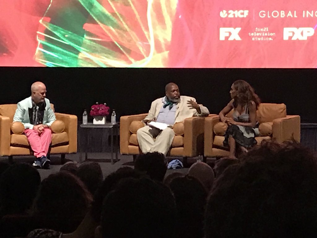 "An incredible honor to screen my directorial debut ""LOVE IS THE MESSAGE"" at @FXNetworks. THE Hilton Als loves @PoseOnFX & led a convo w/ @MrRPMurphy & I. The Pulitzer Prize winning writer praised our show for how it depicts the reality/dreams of queer & trans POC. #posefx"