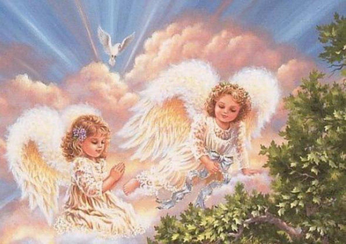 два ангелочка открытка