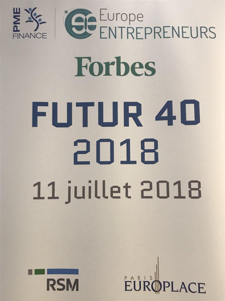 @EskerFrance récompensée pour sa #croissance à la remise des Trophées #Futur40 organisée par @PMEFinance @forbes_fr en présence de @oliviagregoire à #IFFParis #WeAreEsker  - FestivalFocus