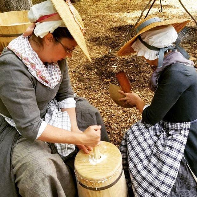Nothing's better then homemade butter! #reenactment #revolutionarywar #patriots #butter https://t.co/i6yFfHLXox