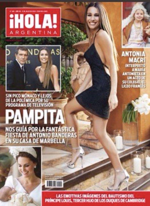 #AdelantoTapaHOLA PAMPITA nos guia por la fantástica fiesta de @antoniobanderas en su casa de Marbella, Antonia Macri en el acto de su colegio por el 9 de Julio, el bautismo del principe Louis y mucho más Foto