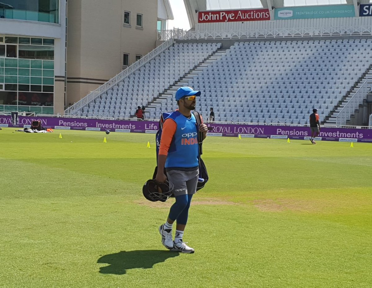 Another fine day at the ground practicing with the team! #Nottingham #TeamIndia #ODI #IndvsEng