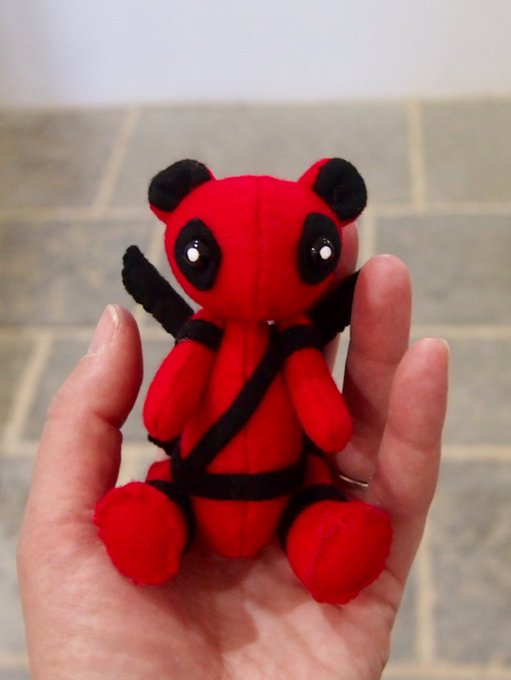 I made a tiny teddy 😍 #Deadpool style 😘 @VancityReynolds #Deadpool2 Photo