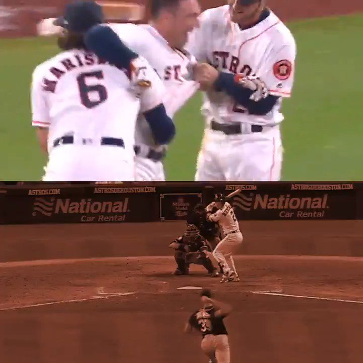 Better play the infield in when @ABREG_1 has a chance for a #walkoff. �� https://t.co/PUlNL43SvE